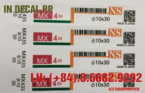 In decal PP làm tem nhãn tại TPHCM
