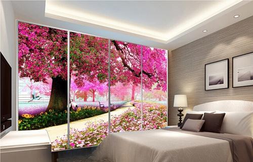 Trang trí nhà bằng giấy dán tường in pp